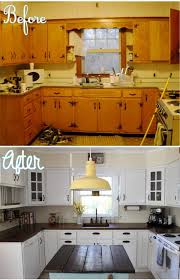 kitchen cabinet makeover ideas diy pretty before and after kitchen makeovers noted list