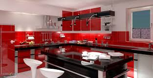 red kitchen white cabinets bathroom engaging red and black the right color combination for