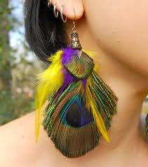 peacock feather earrings peacock feather earrings designs aelida