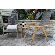 patio table plug 2 1 4 teak patio furniture you ll love wayfair