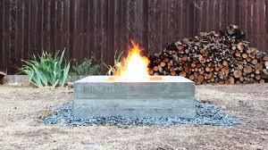 How To Make A Gas Fire Pit by How To Make An Outdoor Concrete Fire Pit Youtube