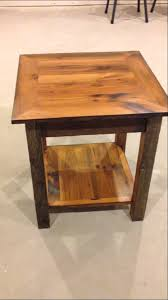reclaimed wood end table reclaimed barnwood end table youtube