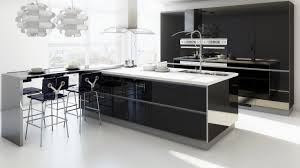 wonderful modern kitchen with island bar and extended black white