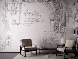 contemporary wallpaper writing wallpapers archiproducts