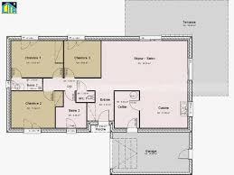 plan de maison plain pied 3 chambres plan maison plein pied 100m2 monlinkerds maison