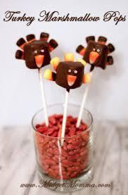 turkey marshmallow pops thanksgiving treat