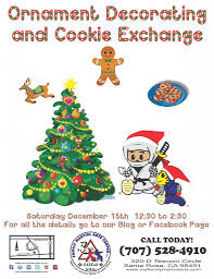 ornament decorating and cookie exchange party at the