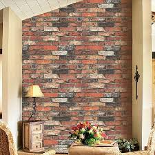 vintage natural brick wallpaper 3d effect realistic faux shabby