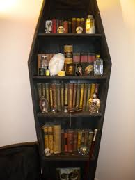 coffin bookcase make old looking books with