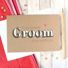 wedding day cards for groom to my handsome groom wedding day card by silverleaf
