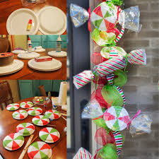 Candy Cane Outdoor Decorations Diy Christmas Candy Mint Garland Homemade Crafts And A Neat Idea