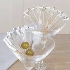 set of 24 martini glass design cocktail sticks by dibor