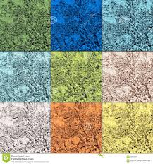 palette of nine trendy colors of spring 2017 in natural textures