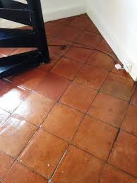 removing wax from a terracotta tiled floor in battersea east