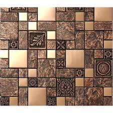 mosaic tile designs tile mosaic brushed stainless steel tiles brass resin metal mosaic