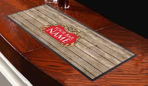 personalised wood effect v1 design bar runner great for home bar