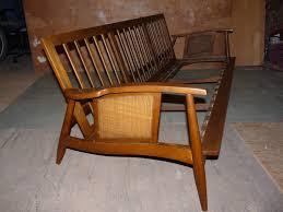 mid century wood frame sofa imonics