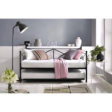Black Daybed With Trundle Mainstays Monaco Metal Daybed And Trundle Black Walmart