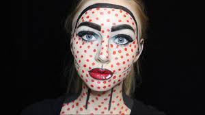 comic book pop art halloween makeup tutorial youtube