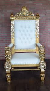 Throne Style Chair King Ralph Lion Throne Chair Gold White U2014 Absolom Roche