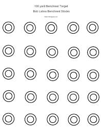 printable shooting targets pdf free printable targets from bob latino gun shots