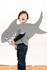Shark Costume Halloween Wonderful Easy Shark Cardboard Costume Kids