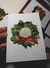 christmas wreath greeting card tutorial fiber art of loretta
