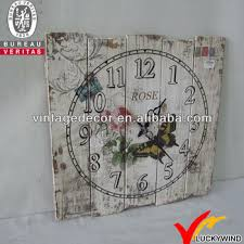 Shabby Chic Wall Clocks by Shabby Chic Vintage Antique Square Wood Wall Clock Buy Wood Wall