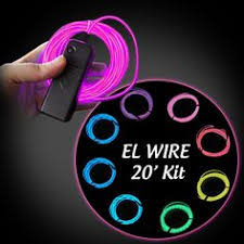 electroluminescent wire cool lighting el wire glow stick
