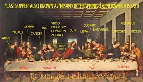 the only female in the zodiac is the virgo virgin and is portrayed by mary magdalene the only female in the last supper