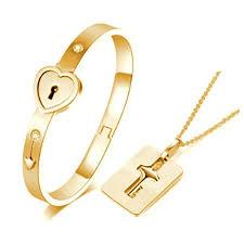 bracelet bangle men images Carffany heart lock love bracelet bangle key necklace jpg