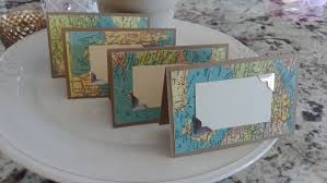 themed place cards vintage map themed cards travel bridal shower place
