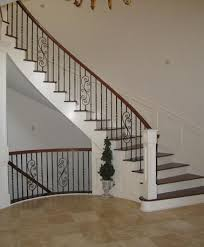Curved Handrail White Curved Staircase With Unique Handrail By Stair Com