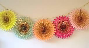 tissue paper fans tissue paper rosette fans diy