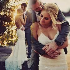 garden beach designer bohemian wedding dresses 2017 backless