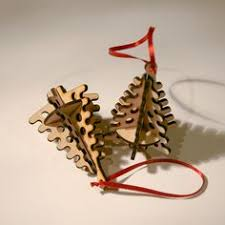 tree laser cut wood ornaments by tomacraftplace on etsy