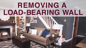 How To Remove Load Bearing Interior Wall Removing A Load Bearing Wall Diy