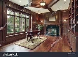 elegant library luxury home black marble stock photo 48176074