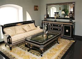 living room set in empire style top and best italian classic