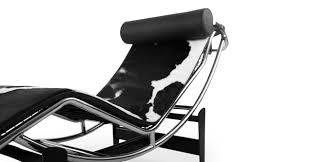 gravity chaise lounge black white cowhide kardiel