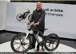 audi bicycle audi woerthersee tour 2012 dr horst glaser leiter entwicklung