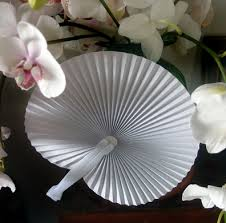 wedding paper fans 9 white folding accordion paper fan for weddings 10