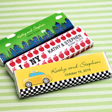 Nyc Wedding Favors by New York Personalized Chocolate Bar Personalised Chocolate