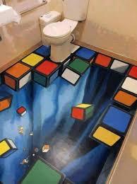 3d bathroom flooring i think i like this but makes me a bit uncomfortable omg