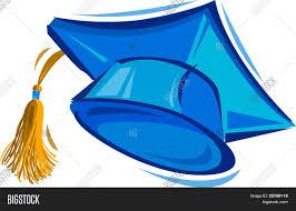 blue graduation cap vector illustration blue vector photo bigstock