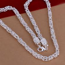 cheap silver chain necklace images Wholesale men 39 s jewelry authentic 925 sterling silver men necklace jpg