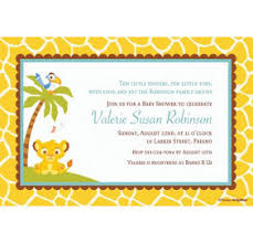 lion king baby shower invitations custom lion king baby shower invitations party city