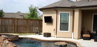 transform your outdoor backyard to a custom tv installation
