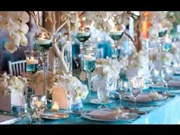 and silver wedding turquoise wedding decorations