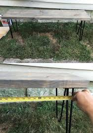 how to build a quick outdoor hairpin leg bench with storage